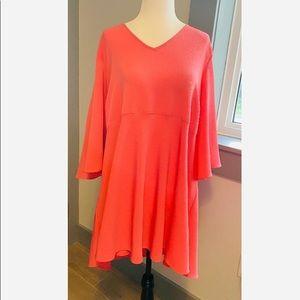 Melissa McCarthy women's pink v-neck blouse sz 0X